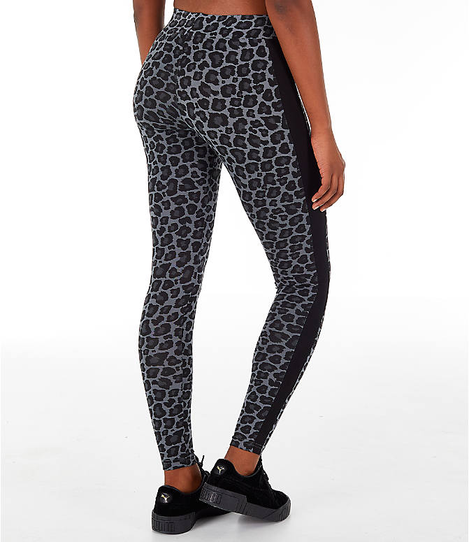 Back Left view of Women's Puma Wild Pack T7 Leggings