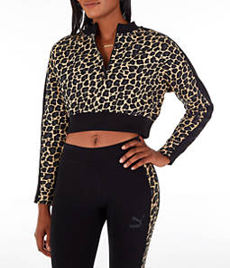 Women's Puma Wild Pack T7 Cropped Crew Sweatshirt