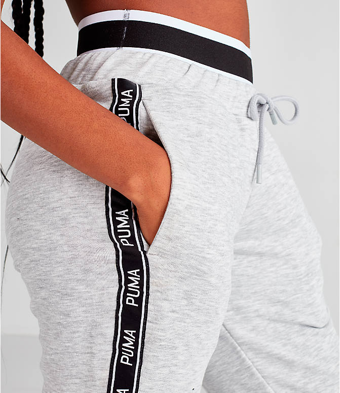 Detail 1 view of Women's Puma Tape Waistband Jogger Pants in Black