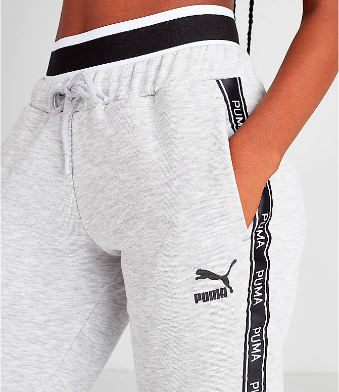 Detail 2 view of Women's Puma Tape Waistband Jogger Pants in Black