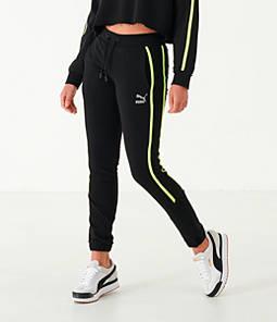 Women's Puma Tape Fleece Jogger Pants