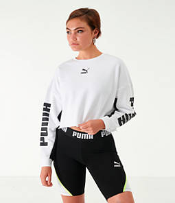 Women's Puma Cropped Fleece Crew Sweatshirt