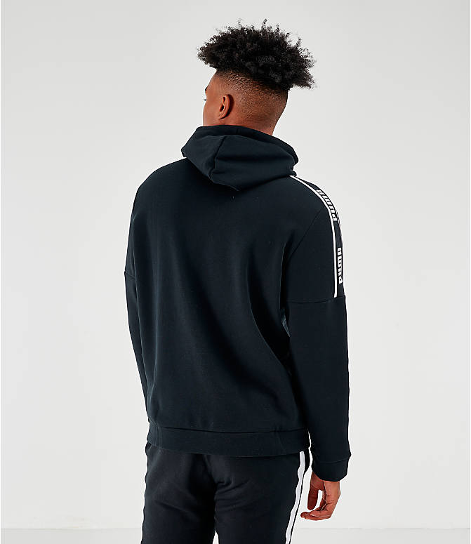 Back Right view of Men's Puma Amplified Hoodie in Black