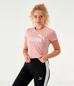 Women's Puma Amplified Fitted Logo Crop T-Shirt