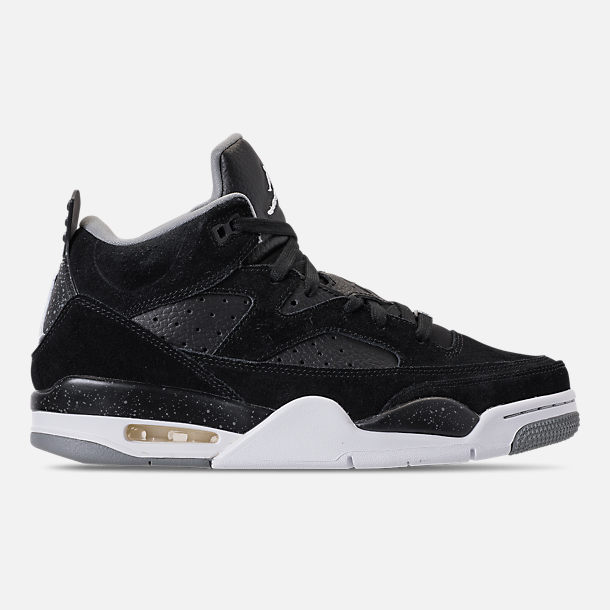 Right view of Men's Air Jordan Son of Mars Low Off Court Shoes in Black/White/Particle Grey/Iron Grey