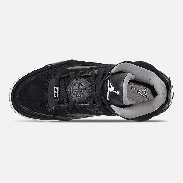 Top view of Men's Air Jordan Son of Mars Low Off Court Shoes in Black/White/Particle Grey/Iron Grey