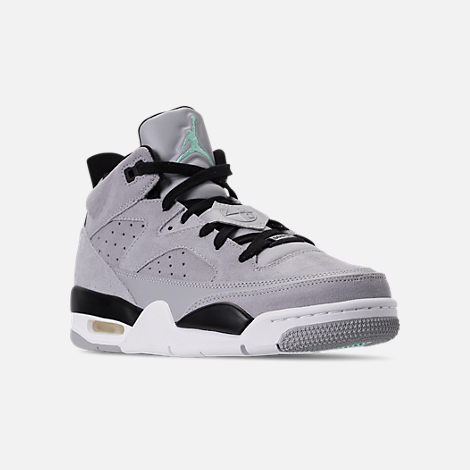 Three Quarter view of Men's Air Jordan Son of Mars Low Off Court Shoes in Wolf Grey/Emerald Rise