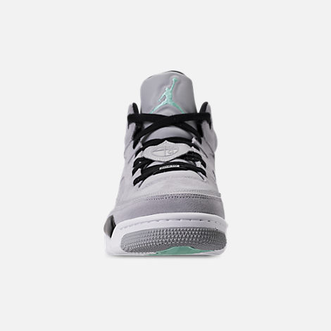 Front view of Men's Air Jordan Son of Mars Low Off Court Shoes in Wolf Grey/Emerald Rise