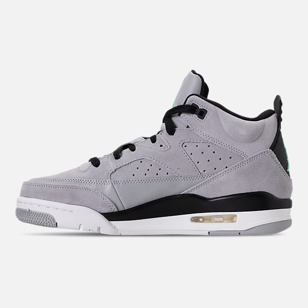 Left view of Men's Air Jordan Son of Mars Low Off Court Shoes in Wolf Grey/Emerald Rise