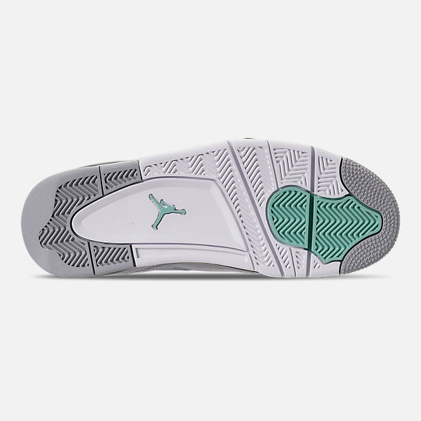 Bottom view of Men's Air Jordan Son of Mars Low Off Court Shoes in Wolf Grey/Emerald Rise