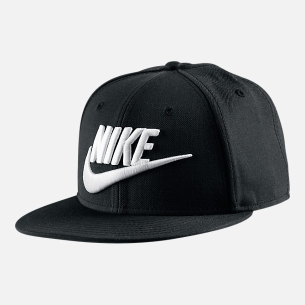 Front view of Nike True Graphic Futura Hat in Black/Black/White