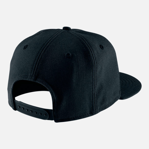 Back view of Nike True Graphic Futura Hat in Black/Black/White