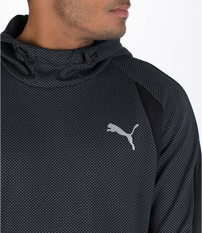 Detail 1 view of Men's Puma Evo Stripe Hoodie in Black