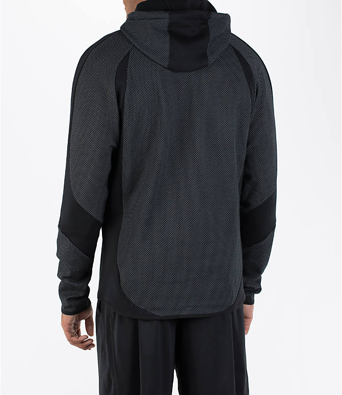 Back Left view of Men's Puma Evo Stripe Hoodie in Black