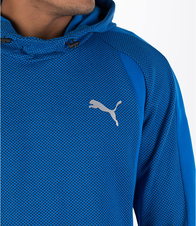 Detail 1 view of Men's Puma Evo Stripe Hoodie in Blue