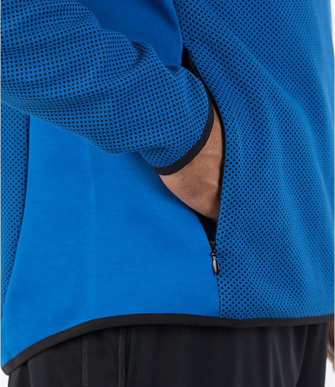 Detail 2 view of Men's Puma Evo Stripe Hoodie in Blue