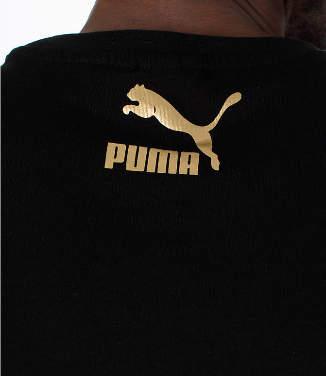Detail 2 view of Men's Puma BBoy Suede T-Shirt in Black