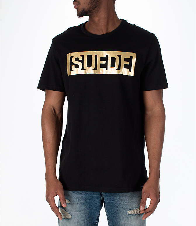 Front view of Men's Puma BBoy Suede T-Shirt in Black
