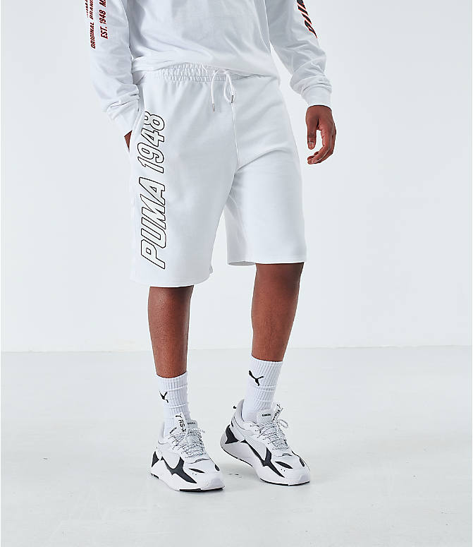 Front view of Men's Puma Lux Shorts in White