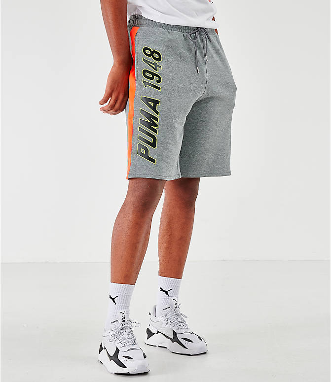 Front view of Men's Puma Lux Shorts in Grey