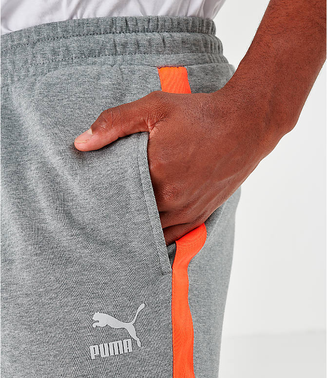 On Model 6 view of Men's Puma Lux Shorts in Grey