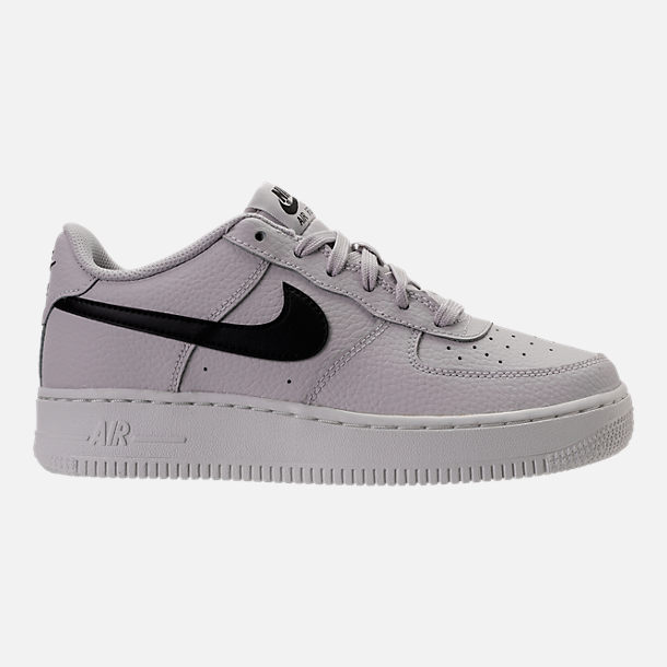 Right view of Boys' Grade School Nike Air Force 1 Low Casual Shoes in Vast Grey/Black/Summit White