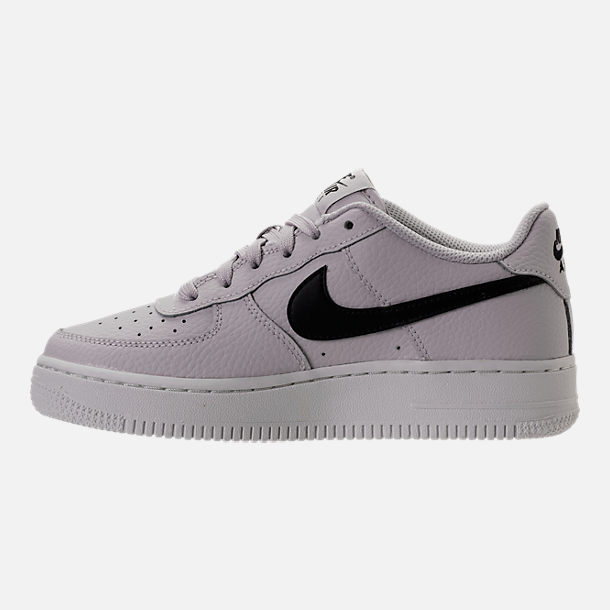 Left view of Boys' Grade School Nike Air Force 1 Low Casual Shoes in Vast Grey/Black/Summit White