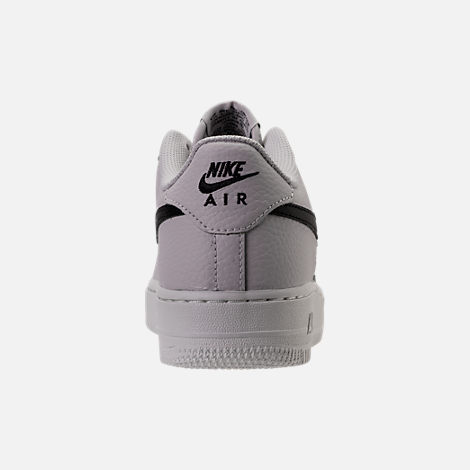 Back view of Boys' Grade School Nike Air Force 1 Low Casual Shoes in Vast Grey/Black/Summit White