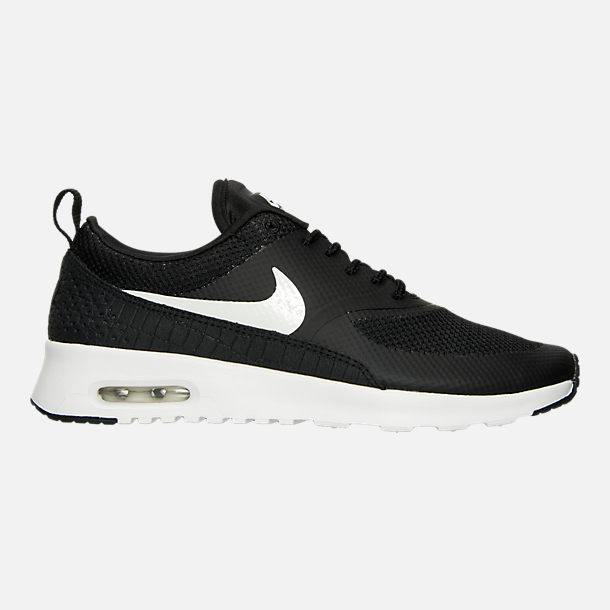 Right view of Women's Nike Air Max Thea Casual Shoes in Black/Summit White
