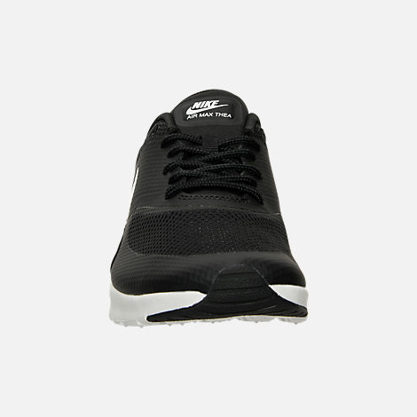 Front view of Women's Nike Air Max Thea Casual Shoes in Black/Summit White