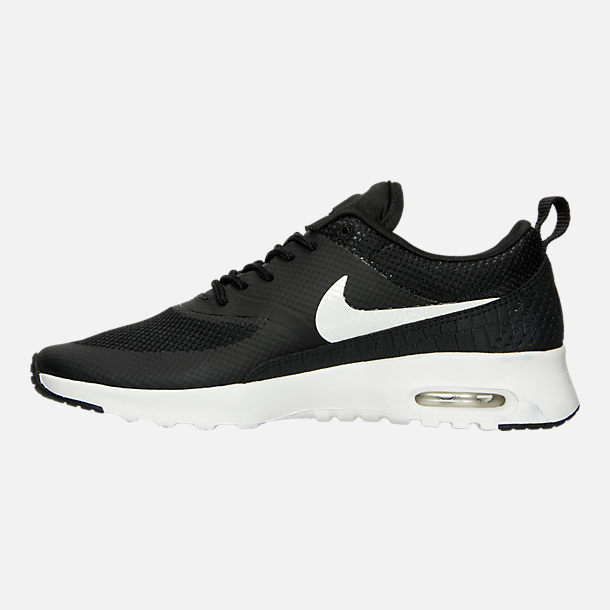 Left view of Women's Nike Air Max Thea Casual Shoes in Black/Summit White