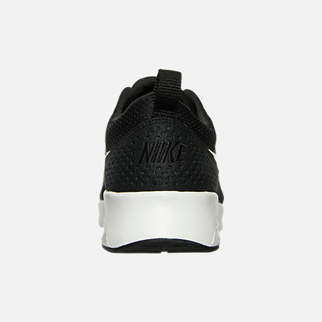 Back view of Women's Nike Air Max Thea Casual Shoes in Black/Summit White