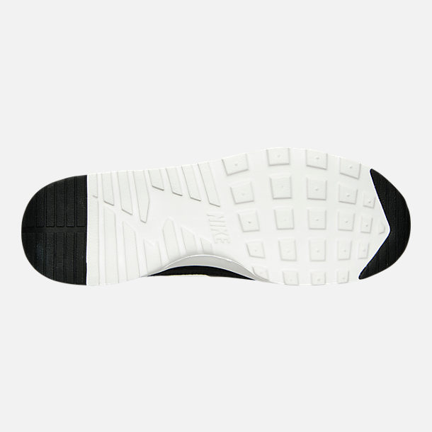Bottom view of Women's Nike Air Max Thea Casual Shoes in Black/Summit White