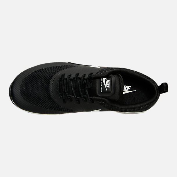 Top view of Women's Nike Air Max Thea Casual Shoes in Black/Summit White