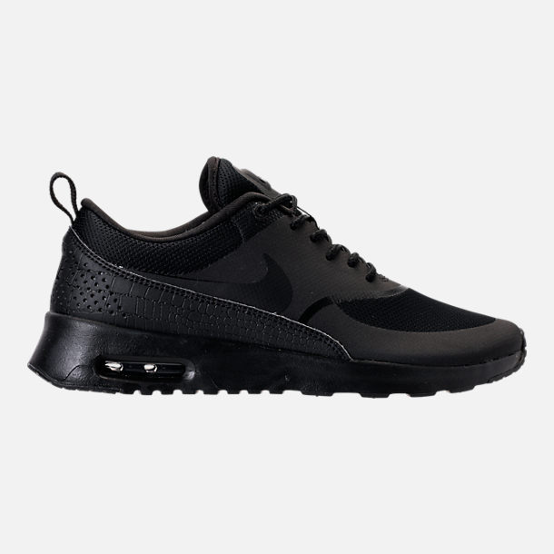 Right view of Women's Nike Air Max Thea Casual Shoes in Black/Black