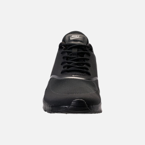 Front view of Women's Nike Air Max Thea Casual Shoes in Black/Black
