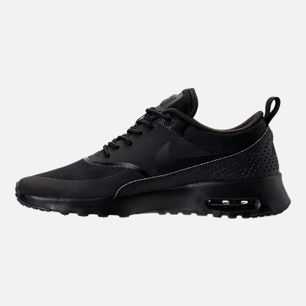 Left view of Women's Nike Air Max Thea Casual Shoes in Black/Black