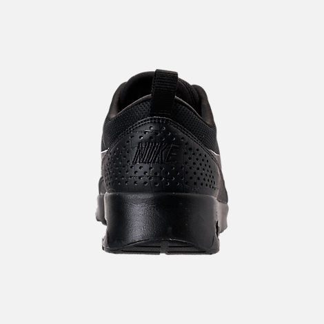 Back view of Women's Nike Air Max Thea Casual Shoes in Black/Black