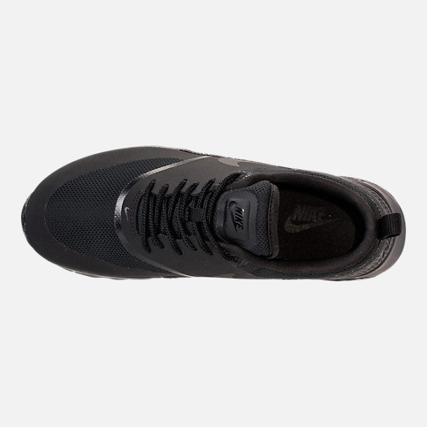 Top view of Women's Nike Air Max Thea Casual Shoes in Black/Black
