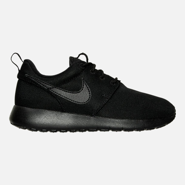 Right view of Boys' Grade School Nike Roshe One Casual Shoes in Black/Black/Black