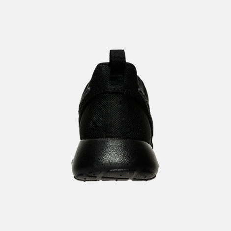Back view of Boys' Grade School Nike Roshe One Casual Shoes in Black/Black/Black
