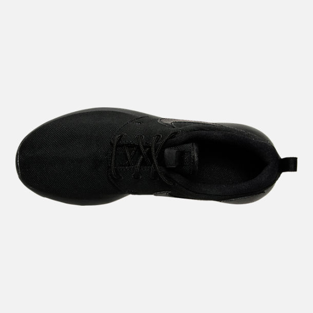 Top view of Boys' Grade School Nike Roshe One Casual Shoes in Black/Black/Black