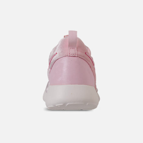 Back view of Girls' Grade School Nike Roshe One Casual Shoes in Arctic Pink/Sail
