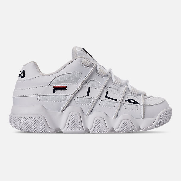 Right view of Women's Fila Barricade XT Low Casual Shoes in White/Fila Navy/Fila Red