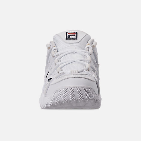 Front view of Women's Fila Barricade XT Low Casual Shoes in White/Fila Navy/Fila Red