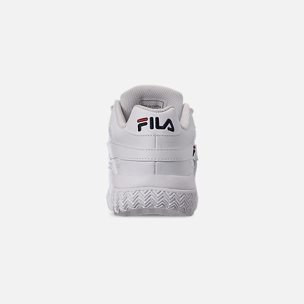 Back view of Women's Fila Barricade XT Low Casual Shoes in White/Fila Navy/Fila Red