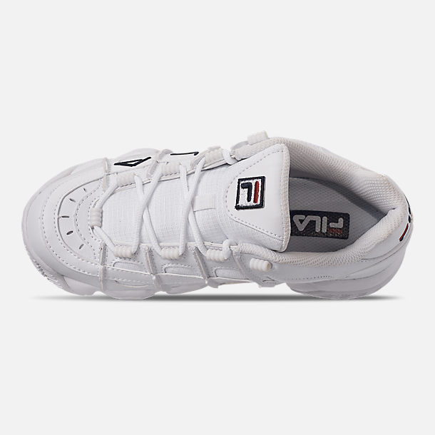 Top view of Women's Fila Barricade XT Low Casual Shoes in White/Fila Navy/Fila Red