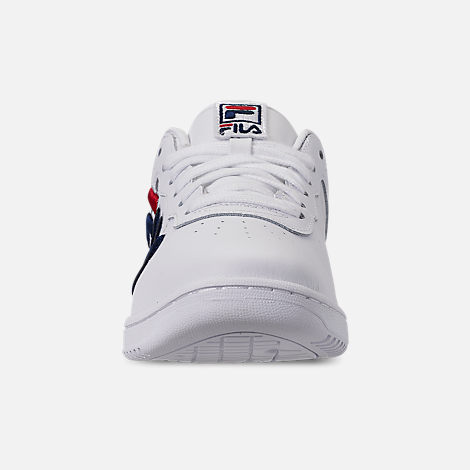 Front view of Women's Fila Original Fitness Casual Shoes in White/Navy/Red