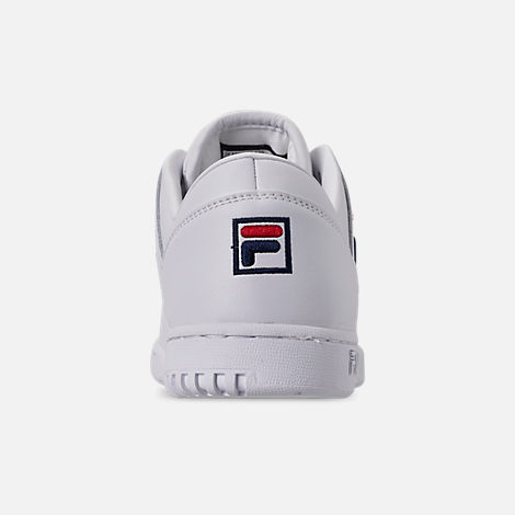 Back view of Women's Fila Original Fitness Casual Shoes in White/Navy/Red