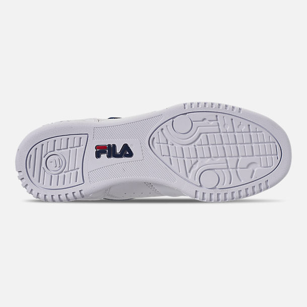 Bottom view of Women's Fila Original Fitness Casual Shoes in White/Navy/Red